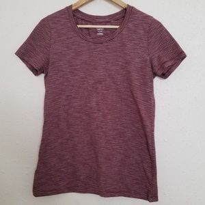 Mossimo Red Striped Basic T shirt